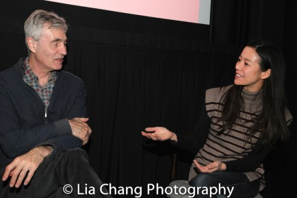 Steve James, Elizabeth Chai Vasarhelyi. Photo by Lia Chang