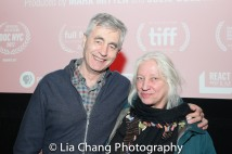 Steve James and Courtroom Sketch Artist Christine Cornell. Photo by Lia Chang