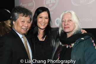 Chinatown activist Don Lee, Vera Sung, courtroom sketch artist Christine Cornell. Photo by Lia Chang