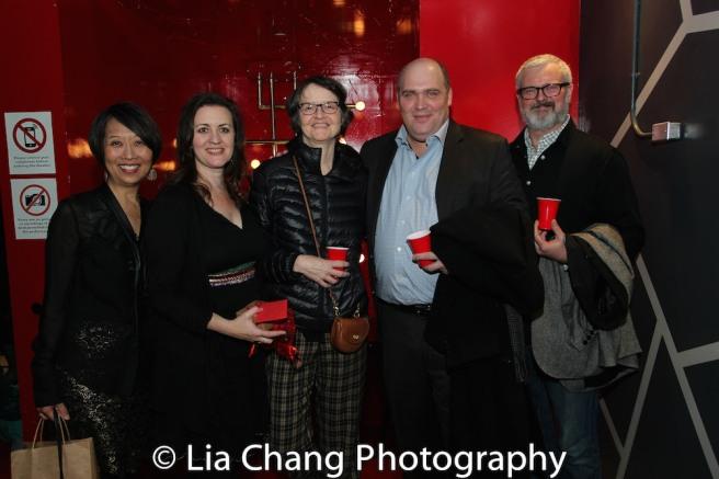 Jeanne Sakata, Lisa Rothe, Margaret Vandenburg, Glenn Fleshler and John Ellison Conlee. Photo by Lia Chang