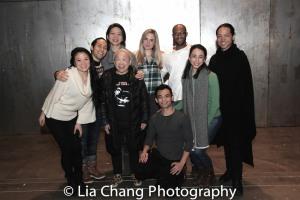 Kristen Faith Oei, Jin Ha, Celeste Den, Lori Tan Chinn, Clea Alsip, Jason Garcia Ignacio, Emmanuel Brown, Jess Fry and Jake Manabat. Photo by Lia Chang
