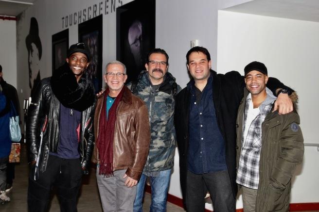 Edi Gathegi, a guest, Ricardo Chavira, Erick Betancourt and Sean Carvajal. Photo by Lia Chang