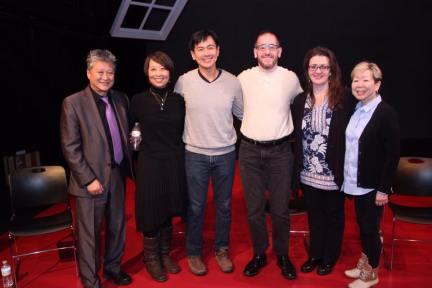 George Hirose, Jeanne Sakata, Joel de la Fuente, Albert Fox Cahn, Lisa Rothe, Julie Azuma. Photo by Lia Chang