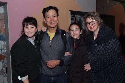 Joel de la Fuente and his family. Photo by Lia Chang