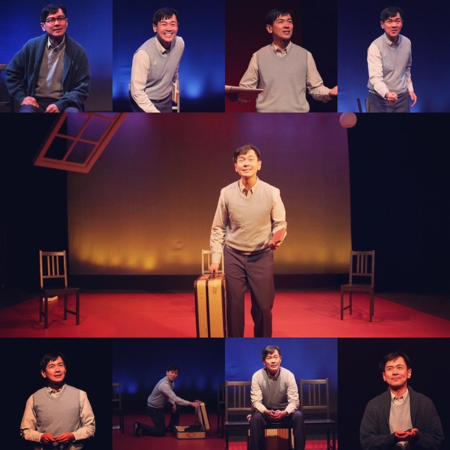 The many faces of Joel de la Fuente in Jeanne Sakata's HOLD THESE TRUTHS. Photo by Lia Chang