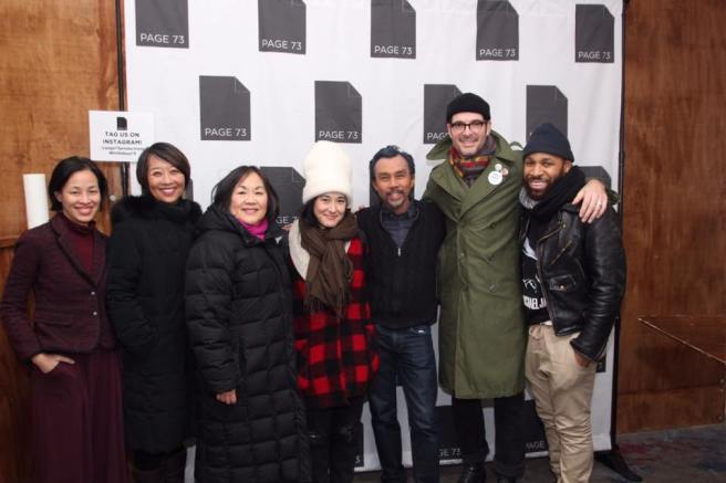 Lia Chang, Jeanne Sakata, Emily Kuroda, Jennifer Ikeda, Ron Domingo, Jonathan Brooks,Ugo Chukwu. Photo by Garth Kravits