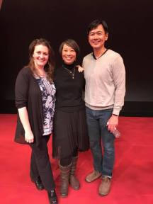 Director Lisa Rothe, Playwright Jeanne Sakata and Joel de la Fuente. Photo by Lia Chang