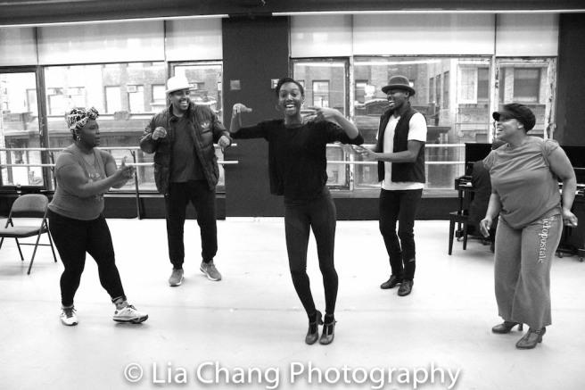 Johmaalya Adelekan, David Samuel, Zurin Villanueva, Borris York and Rheaume Crenshaw. Photo by Lia Chang