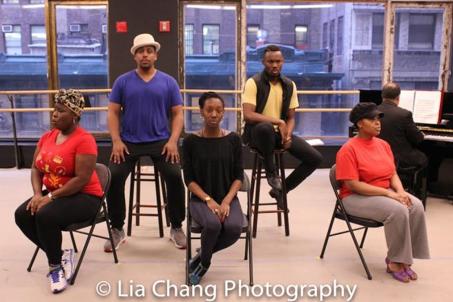 Johmaalya Adelekan, David Samuel, Zurin Villanueva, Borris York, Rheaume Crenshaw. Photo by Lia Chang