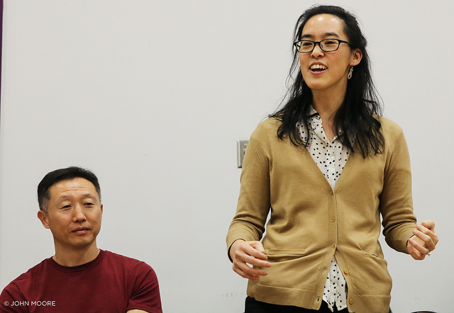 Joseph Steven Yang and playwright Lauren Yee. Photo by John Moore
