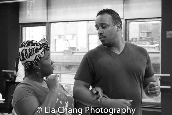 Johmaalya Adelekan and David Samuel. Photo by Lia Chang