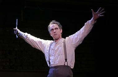 Thom Sesma as Sweeney Todd in Arden Theatre Company's production of Sweeney Todd - The Demon Barber of Fleet Street in 2009. (Photo: Mark Garvin)