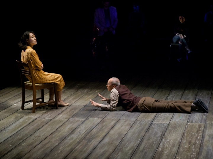 Yunjin Kim and Francis Jue in La Jolla Playhouse's production of WILD GOOSE DREAMS by Hansol Jung. Photo by Jim Carmody