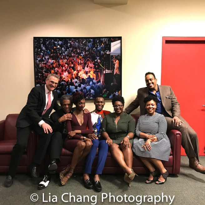 Murray Horwitz, André De Shields, Zurin Villanueva, Borris York, Johmaalya Adelekan, Rheaume Crenshaw, David Samuel. Photo by Lia Chang