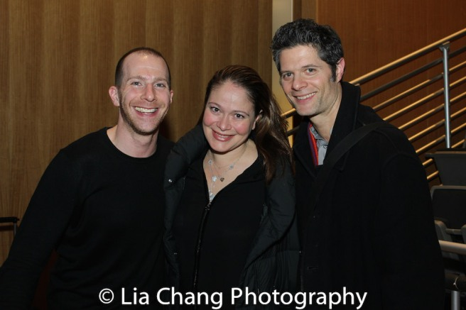 NEXT TO NORMAL renunion: Charlie Alterman, Rita Pietropinto and Tom Kitt. Photo by Lia Chang