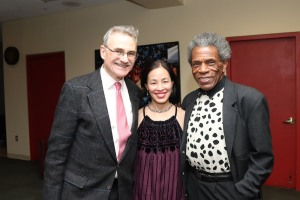 Murray Horwitz, Lia Chang and André De Shields. Photo by Garth Kravits