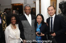 Honoree Vinie Burrows, André De Shields, Ngo Gia Thuan, First Secretary, Permanent Mission of the Socialist Republic of Viet Nam to the United Nations, and Ambassador Pham Thi Kim Anh, Deputy Permanent Representative of Vietnam to the United Nations. Photo by Lia Chang