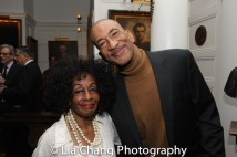 Honoree Vinie Burrows and her son. Photo by Lia Chang