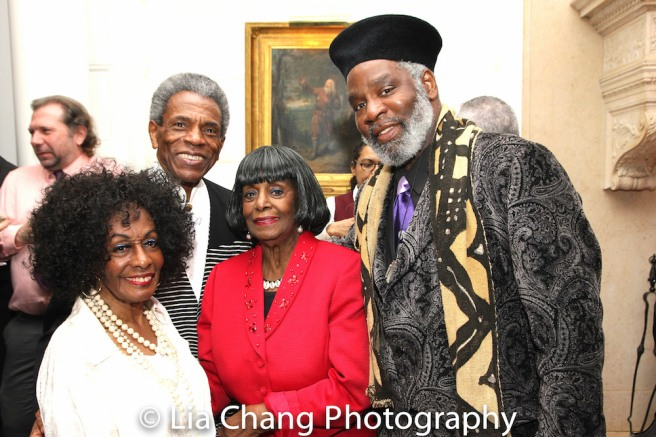 Honoree Vinie Burrows, André De Shields, Grace Jones and Rome Neal. Photo by Lia Chang