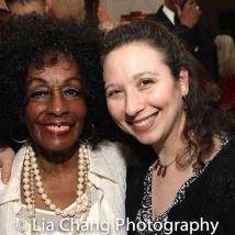 Honoree Vinie Burrows and Atlantic Theater's Abigail Katz. Photo by Lia Chang