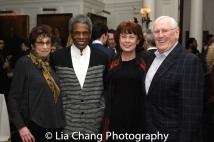 A guest, André De Shields, Heather Summerhayes Cariou and Len Cariou. Photo by Lia Chang