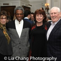 A guest, André De Shields, Heather Summerhayes Cariou and Len Cariou. Photo by Lia Chang
