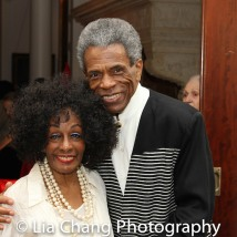 André De Shields and Honoree Vinie Burrows. Photo by Lia Chang