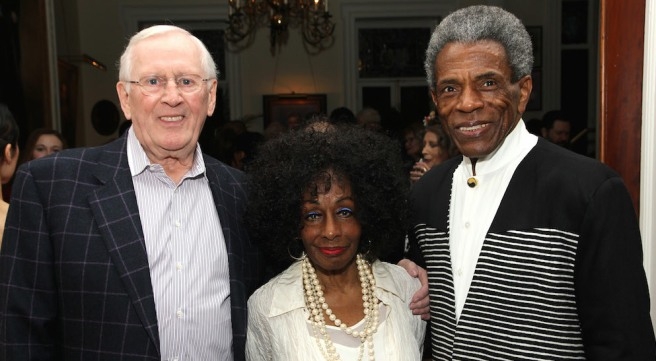 Len Cariou, Honoree Vinie Burrows and André De Shields. Photo by Lia Chang