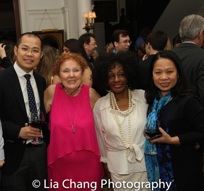 Ngo Gia Thuan, First Secretary, Permanent Mission of the Socialist Republic of Viet Nam to the United Nations, Theater for the New City's Executive Director Crystal Fields, honoree Vinie Burrows and Ambassador Pham Thi Kim Anh, Deputy Permanent Representative of Vietnam to the United Nations. Photo by Lia Chang