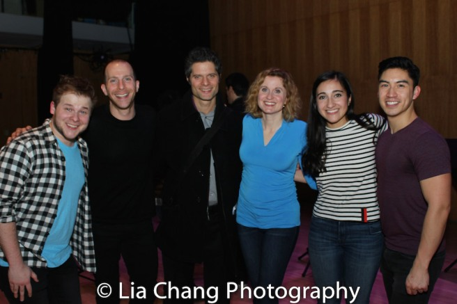 F. Michael Haynie, Charlie Alterman, Tom Kitt, Christiane Noll, Krystina Alabado and Devin Ilaw. Photo by Lia Chang
