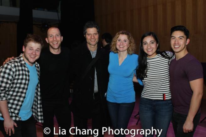 F. Michael Haynie, Charlie Alterman, Tom Kitt, Christiane Noll, Krystina Alabado and Devin Ilaw. Photo by Lia Chang