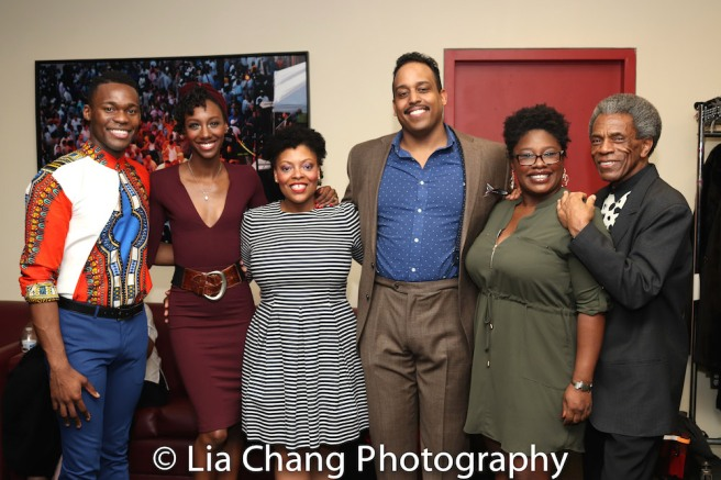 Borris York, Zurin Villanueva, Rheaume Crenshaw, David Samuel, Johmaalya Adelekan, André De Shields. Photo by Lia Chang