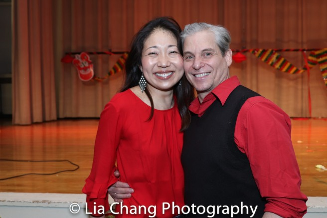 Lainie Sakakura, with her husband, Alex Sanchez. Photo by Lia Chang