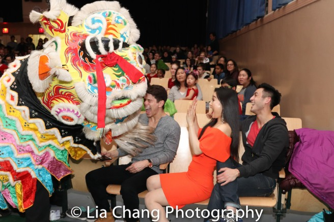 Chinese Lion Dance by Kwan's Kung Fu, with Sam Tanabe, YoonJeong Seong, Hansel Tan. Photo by Lia Chang