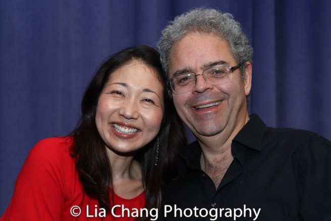 Lainie Sakakura and Percussionist Kory Grossman. Photo by Lia Chang