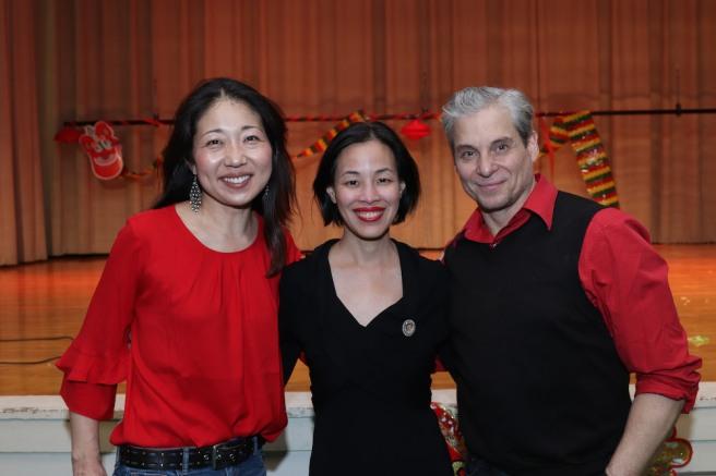 Lainie Sakakura, Lia Chang and Alex Sanchez. Photo by Garth Kravits