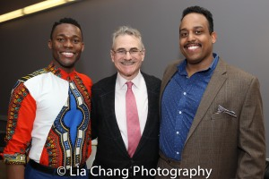 Borris York, Murray Horwitz and David Samuel. Photo by Lia Chang