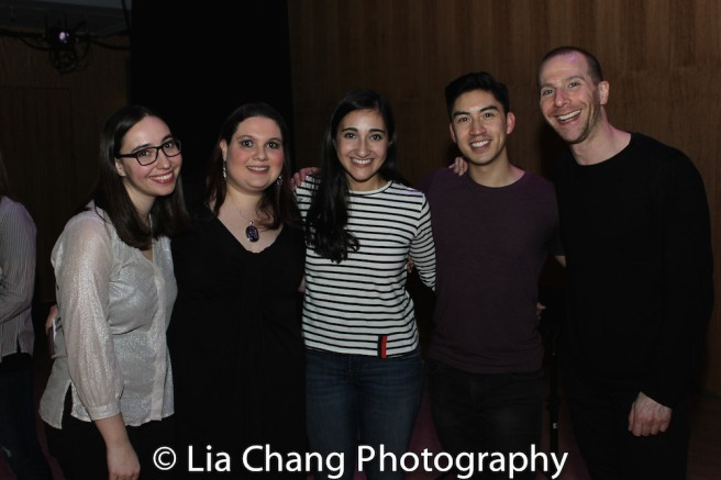 Director Daniella Caggiano, Producer Rachel Kunstadt, Krystina Alabado, Devin Ilaw and Musical Director Charlie Alterman. Photo by Lia Chang