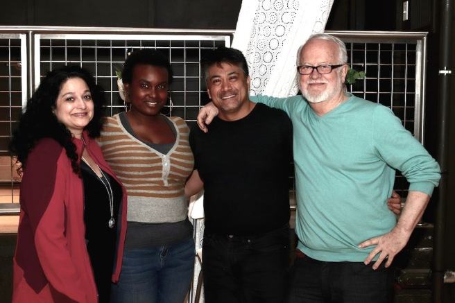 Elise Stone, Lori Parquet, Ariel Estrada and Craig Smith, Producing Artistic Director of Phoenix Theatre Ensemble. Photo by Lia Chang