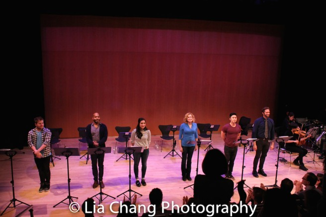 F. Michael Haynie, Darius de Haas, Krystina Alabado, Christiane Noll, Devin Ilaw and Colin Hanlon. Photo by Lia Chang