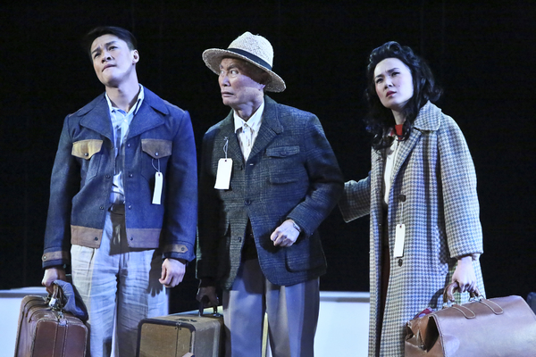 Ethan Le Phong, George Takei, and Elena Wang. Photo by Michael Lamont