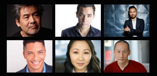 David Henry Hwang, Conrad Ricamora, Billy Bustmante, Jon Hoche, Kendyl Ito and Francis Jue.