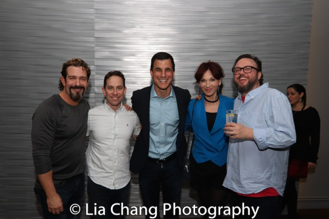Brandon Williams, Garth Kravits, Ken Davenport, Marilu Henner, Jay Klaitz. Photo by Lia Chang