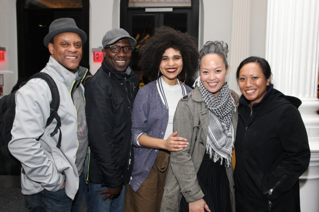 "A ""Ruined"" reunion for Kevin Mambo, and Russell G. Jones, Kirya Yvonne Traber, Elz Cuya Jones and Lorraine Marasigan. Photo by Lia Chang"