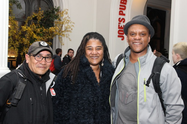 Jojo Gonzalez, Lynn Nottage and Kevin Mambo. Photo by Lia Chang