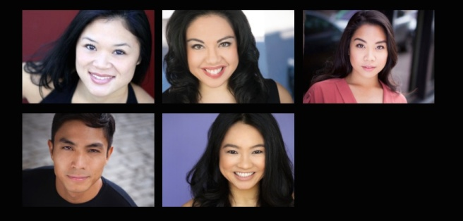 Kristen Faith Oei, Maria-Christina Oliveras, Geena Quinto, Trevor Salter and Emily Stillings.