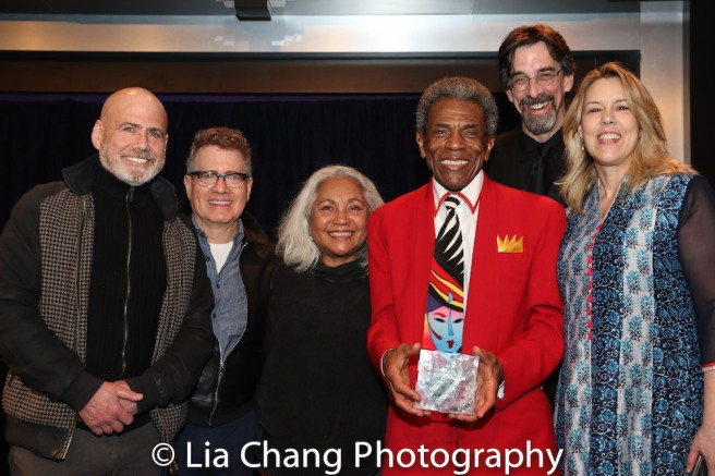 Howard Schein, Burton Schein, Petra Schein, André De Shields, Ritt Henn and Beth Falcone. Photo by Lia Chang