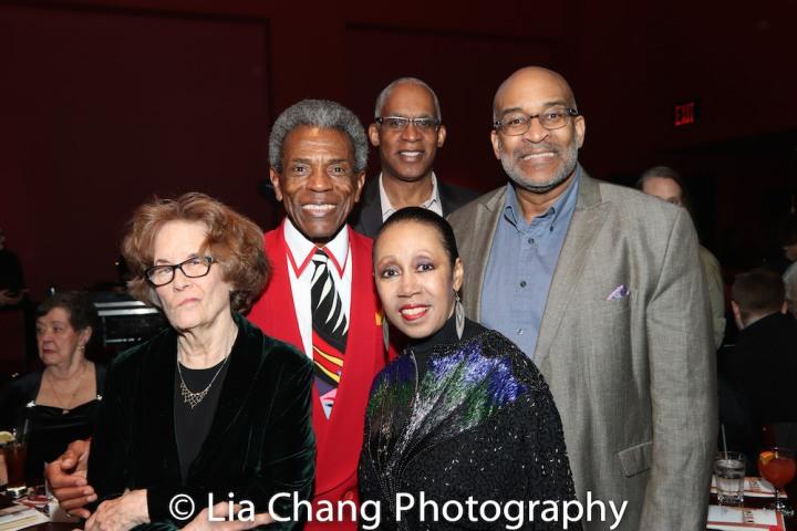 Joan Jeffri, André De Shields, Vincent Phram, Yvonne Curry and Michael Dinwiddie. Photo by Lia Chang