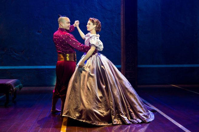 "Jose Llana and Elena Shaddow in Rodgers Hammerstein's ""The King and I."" Photo by Jeremy Daniel"