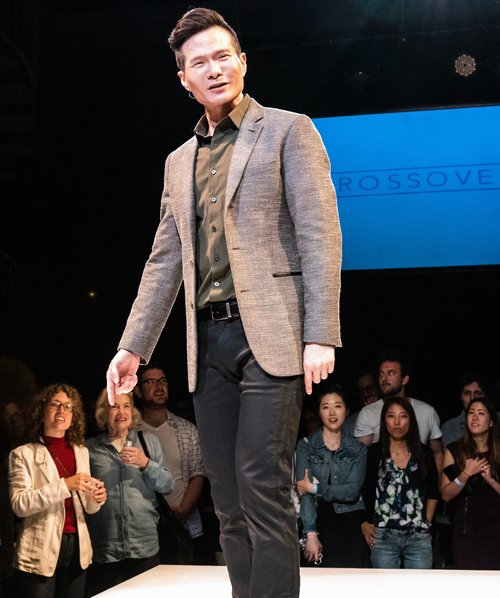 James Seol plays JTM's brand manager for its American transition. Photo: Ben Arons/Ars Nova
